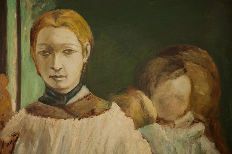 """""""L'angelo del focolare"""" di Michelangelo Fanara - olio su tela"""